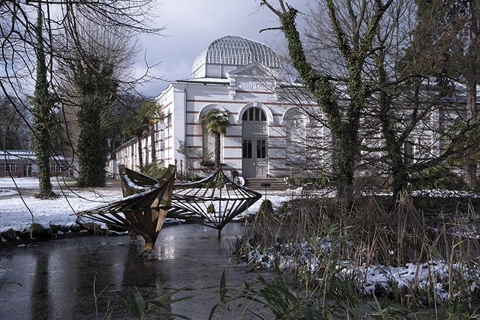 Pavillon de l'Indochine construit dans le jardin d Agronomie Tropicale transformé en hôpital pendant la guerre de 1914-18