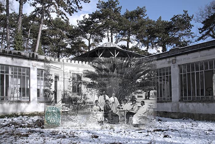 Pavillon de la Tunisie dans le jardin d Agronomie Tropicale - laboratoire de l IRAT dans les années 1960